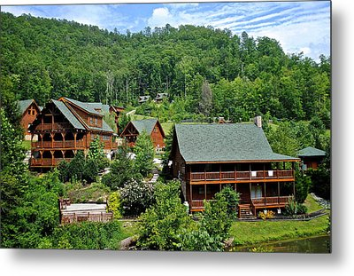 Smoky Mountain Cabins Metal Print by Frozen in Time Fine Art Photography