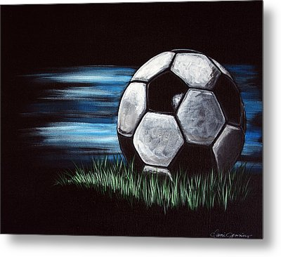Soccer Ball Metal Print by Dani Abbott