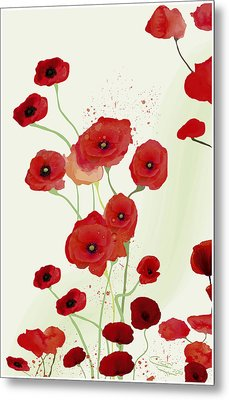 Sonata Of Poppies Metal Print