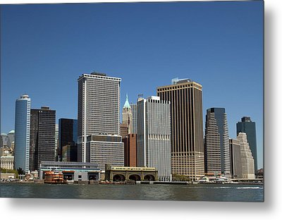Metal Print featuring the photograph South Ferry by Jim Poulos
