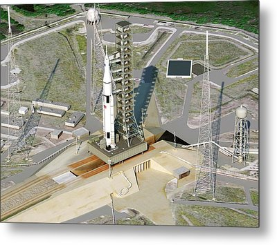 Space Launch System Metal Print