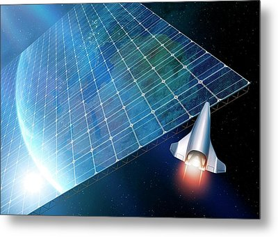 Space Solar Power Station Metal Print by Detlev Van Ravenswaay