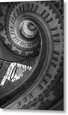 Spiral Staircase Metal Print by Chevy Fleet