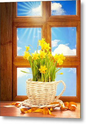 Spring Window Metal Print by Amanda Elwell