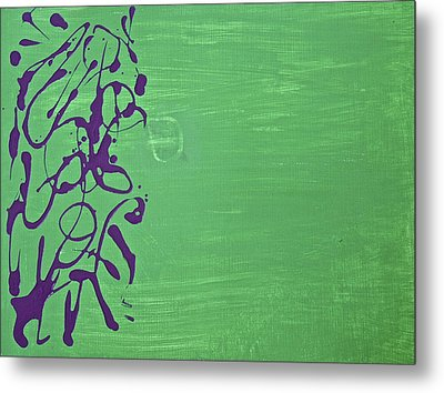Squiggle Series Metal Print by Tracey Myers
