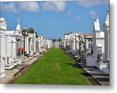 St Louis Cemetery No 3 New Orleans Metal Print by Christine Till
