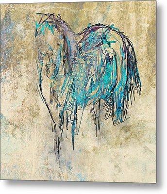 Standing Horse Metal Print