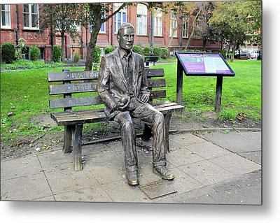 Statue Of Alan Turing Metal Print by Martin Bond