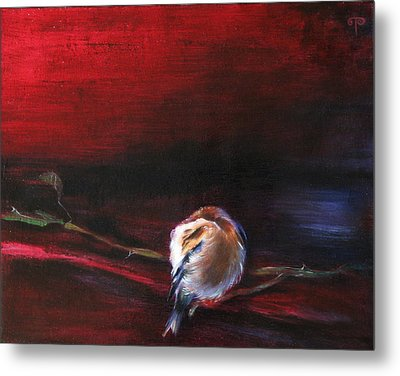 Still Life - Original Painting. Part Of A Diptych Metal Print by Tanya Byrd