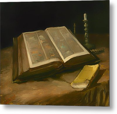 Still Life With Bible Metal Print by Mountain Dreams