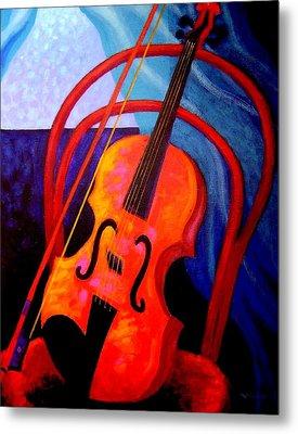 Still Life With Violin Metal Print