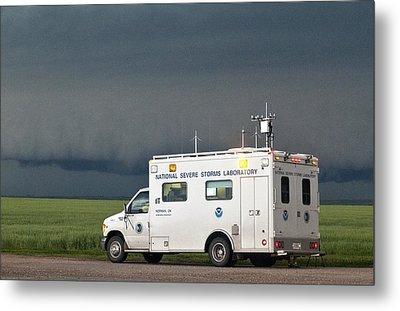 Storm Chasing, Nebraska, Usa Metal Print