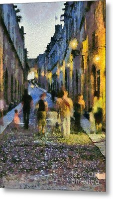 Street Of Knights Metal Print by George Atsametakis