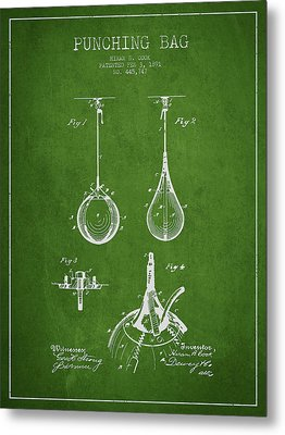 Striking Bag Patent Drawing From1891 Metal Print by Aged Pixel