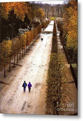 Strolling Versailles Metal Print by Barbara D Richards