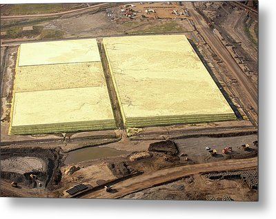 Sulphur Extracted From Tar Sands Metal Print