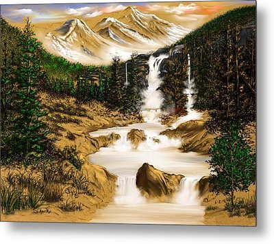 Metal Print featuring the digital art Summer Evening Glow by Anthony Fishburne