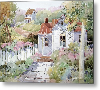 Summer Time Cottage Metal Print