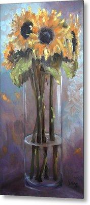 Sunflower Bouquet Metal Print by Donna Tuten