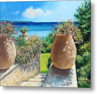 Sunny Terrace Metal Print by Jean-Marc Janiaczyk