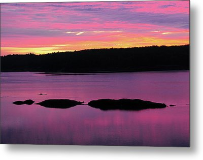 Sunrise On The New Meadows River Metal Print by Michel Hersen