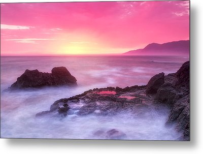 Sunset At Shelter Cove Metal Print by Chris Frost