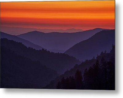 Sunset In The Smokies Metal Print