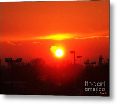 Metal Print featuring the photograph Sunset by Jasna Dragun