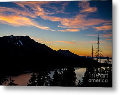 Sunset On Angora Ridge Metal Print by Mitch Shindelbower