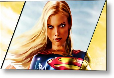 Supergirl Metal Print by Marvin Blaine