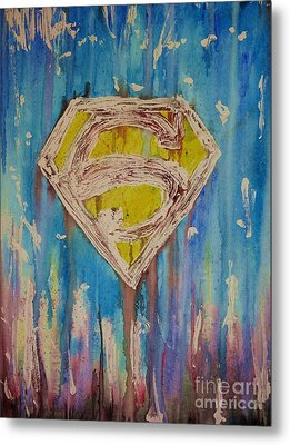 Superman's Shield Metal Print