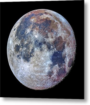 Surface Of The Moon Metal Print