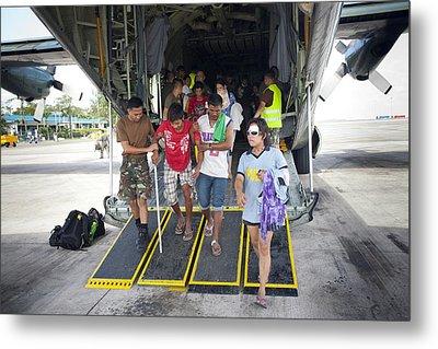 Survivors Of Super Typhoon Haiyan Metal Print by Jim Edds