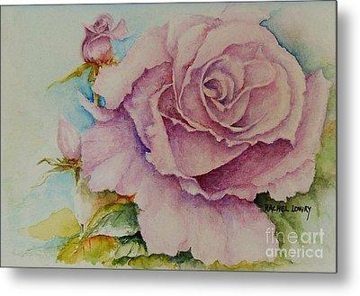 Susan's Rose Metal Print by Rachel Lowry