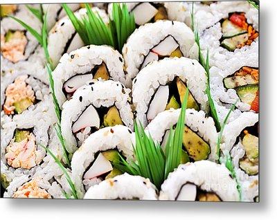 Sushi Platter Metal Print