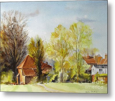 Metal Print featuring the painting Sweet England by Beatrice Cloake