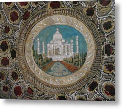 Metal Print featuring the painting Taj Mahal by Vikram Singh