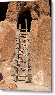 Talus House Front Door Bandelier National Monument Metal Print