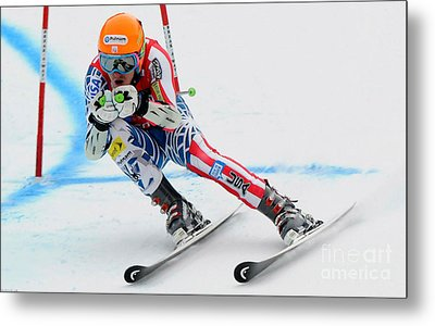 Ted Ligety Skiing  Metal Print by Lanjee Chee