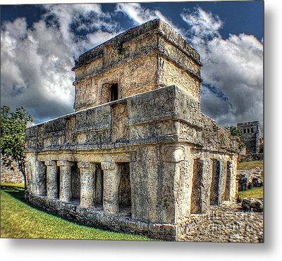 Temple Of The Frescos - Tulum Metal Print by Ines Bolasini