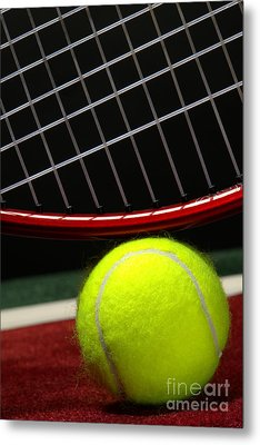 Tennis Ball Metal Print by Olivier Le Queinec