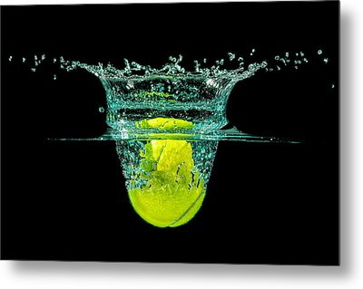 Tennis Ball Metal Print