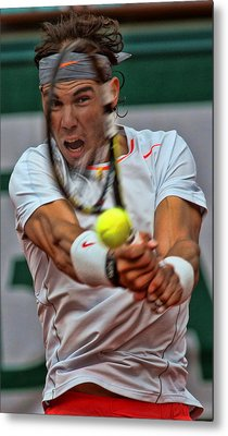 Tennis Star Rafael Nadal Metal Print by Srdjan Petrovic