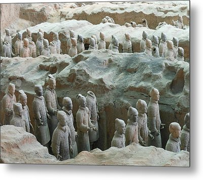 Metal Print featuring the photograph Terracotta Army by Kay Gilley