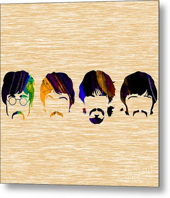 The Beatles Collection Metal Print by Marvin Blaine