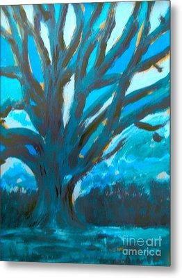 The Blue Tree Metal Print