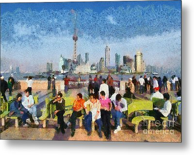 The Bund In Shanghai Metal Print