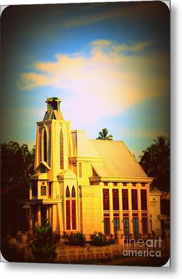 Metal Print featuring the photograph The Church In My Village by Jason Sentuf