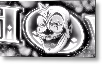 The Clown Wasn't Funny Metal Print by Newel Hunter