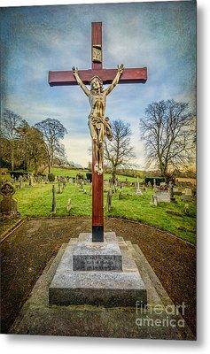 The Cross Metal Print by Adrian Evans